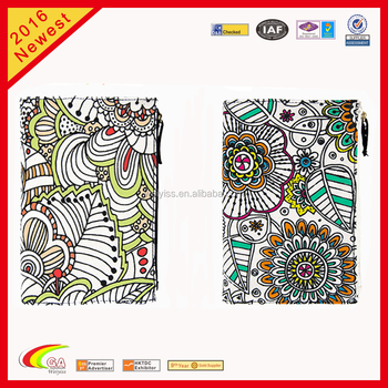 Custom Canvas Diy Coloring Planner Bookschool Diary Cover Design Notebook With Zipper