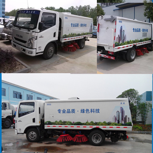 IVECO Yuejin brand 4x2 Street Sweeping Truck, Vacuum Road Sweeper brushes Truck For Sale