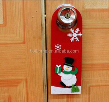 Customized Christmas House Decorative Door Hanger Felt Material
