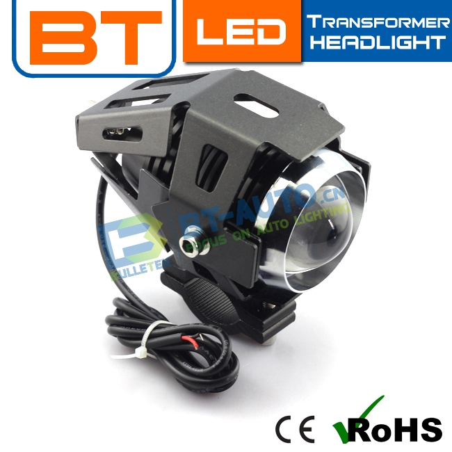 Wholesale Price Ce Rohs U5 Motorcycle Projector Led Headlight With Angel Eye