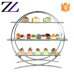 Ceramic buffet stand afternoon tea stand stainless steel 3 tier food display for wedding cake dessert buffet display stand