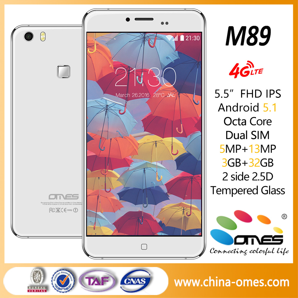 Super slim High End M89 5.5 inch Octa Core unlocked mobile phone 4g lte android smartphone OEM ODM