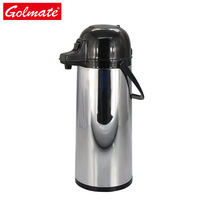 air pump pot 1.9l ss keep water hot glass liner thermal coffee airpot
