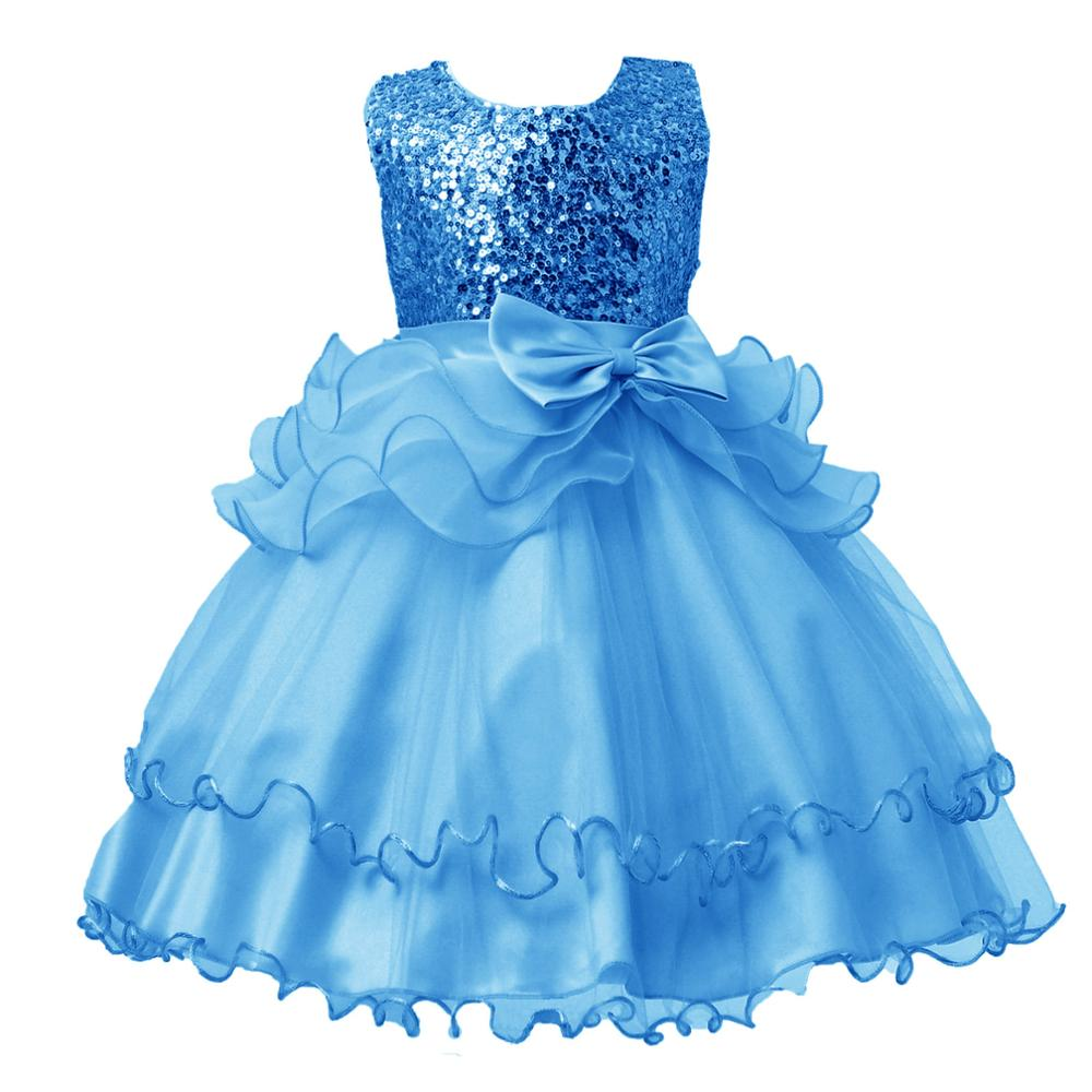Lovely Sequin Flower Girl Dress Champagne Tutu Dress Elegant Party ...
