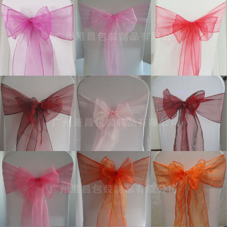 Fashion design wholesale fancy chair sashes for weddings