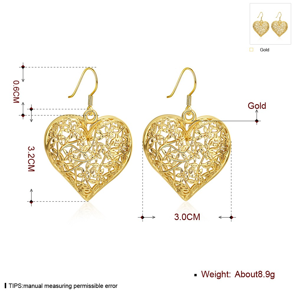 Saudi Gold Jewelry Fashion Design Hanging Earrings Women Hollow ...