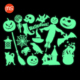Glass window/wall stickers Halloween photoluminescence decal