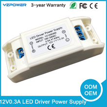AC LED Buld Driver Transformer 12V 0.3A Light Power Supply Air Cooling