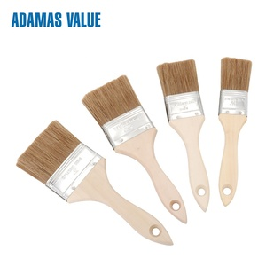 Synthetic fiber paint brush,cheap paint brushes,wooden paint brush handles 34011