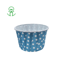 White Dots with Blue paper pattern decorative cupcake baking cups