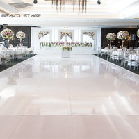 2019 Guangzhou Cheap Banquet Parties Portable Wooden Seamless White Black Dance Floor For Sale