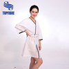 10104 Two front pockets Adjustable waist strap to fits all spa robe 100% cotton