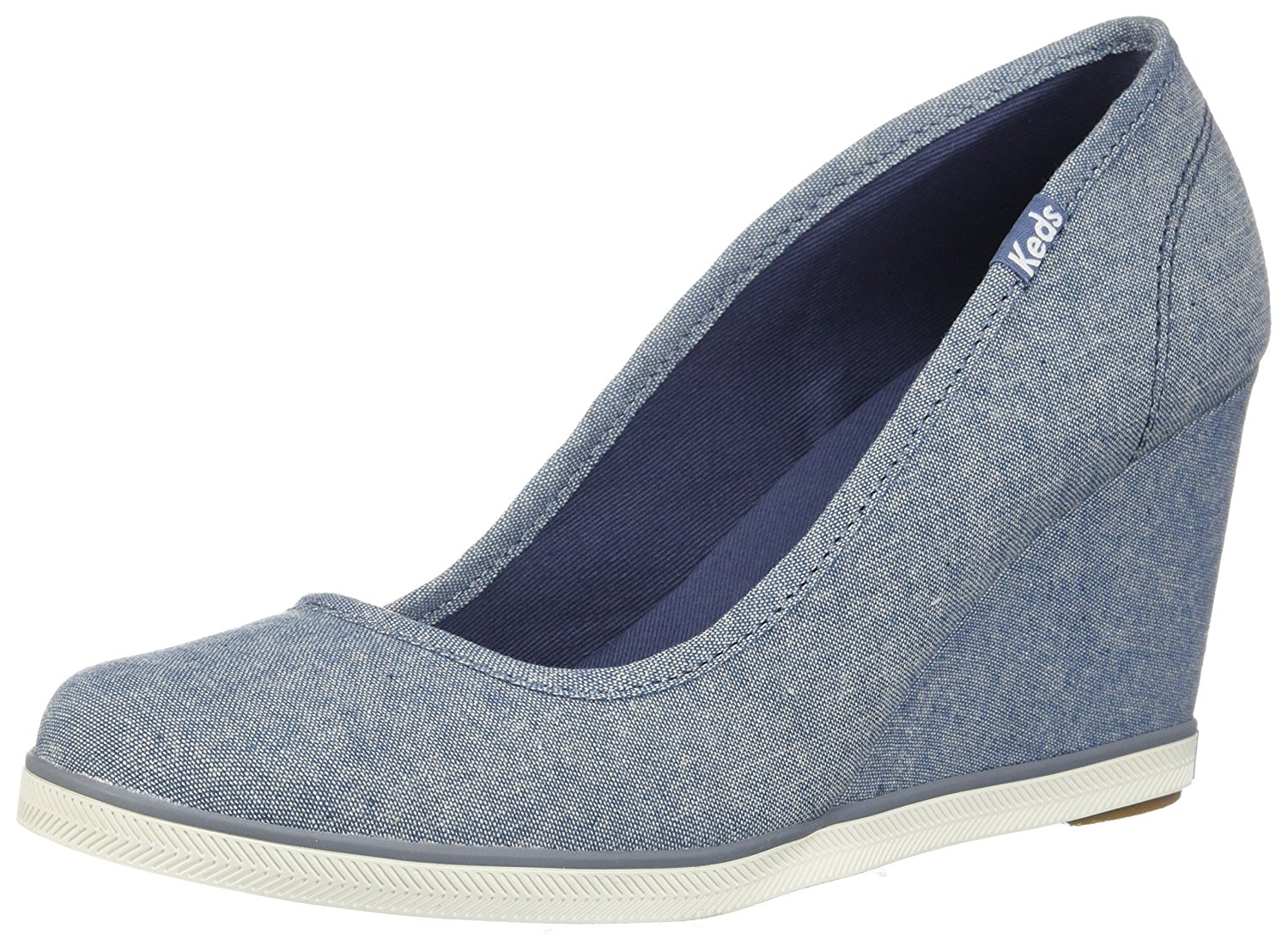 6f5f801179e Get Quotations · Keds Women s Damsel Chambray Wedge