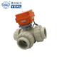 "12 volt electric water valve flow 3/4"" 3 way 12v electric control ball valve"