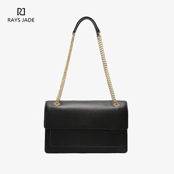 8057f672e8e6 2018 Factory Custom Fashion Lady Black Leather Chain Shoulder Bag