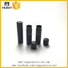 15ml solid black color cylinder shape lip balm container tube