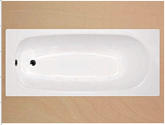 From 1200mm to 1700mm enameled drop in steel hot BATH TUB