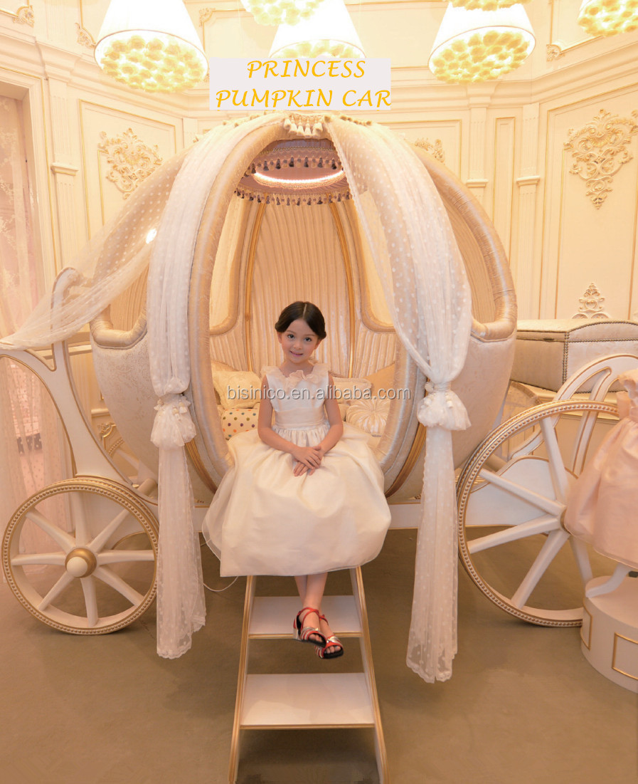 Royal Crown Cinderella Pumpkin Coach Bed Luxury Princess