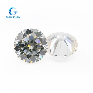 6A High quality GH white color round shape cubic zirconia brilliant as diamond CZ loose stones