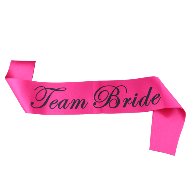 Bachelorette Satin Sash Pink Bride To Be Letter Sash Lady Hen Party Celebration Team Bride Sashes