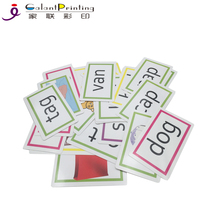 Custom schede flash fancy inglese educativi flash card stampa