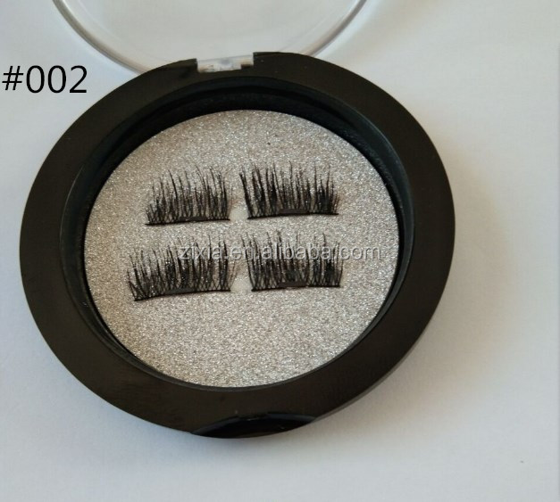 private label Single magnet New Natural Silk 3D Lashes False Magnetic Eyelashes