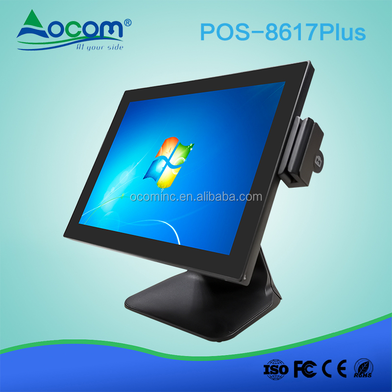 POS-8617Plus 15.6 inch all in one touch screen cash register pos system hardware