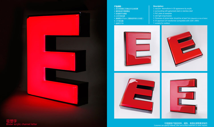 Different style well made acrylic stainless steel vacuum alphabet letter 3d letter support sample letter offering