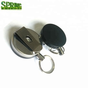 Extra Heavy Duty Stainless Steel Wire Cable Plastic Badge Reel ID Card Pass Key Holder and Belt Clip 4cm