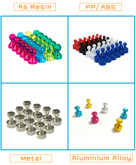 Colorful Customized Office Refrigerator Strong Permanent Push Pin Magnet Botton