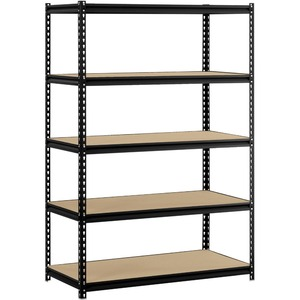 5 layer metal garage storage shelf /boltless racking system / rivet rack shelving