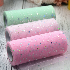 Glitter Sequin Tulle Roll for diy Flower 25 yards Sparkling Sequin Tulle Fabric Rolls DIY Spool Tutu Skirt Wedding Party Decor