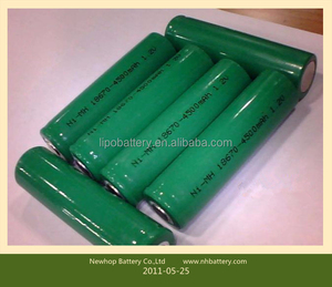 High quality 1.2v 4500mah nimh 18670 battery pack for led lights