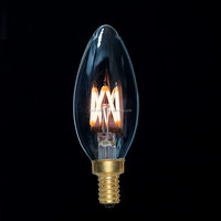 LED - Filament Type - 2 Watt - Chandelier Bulb - 25 Watt Equal - CRI 95 - 2200K Warm Glow - Amber Tinted