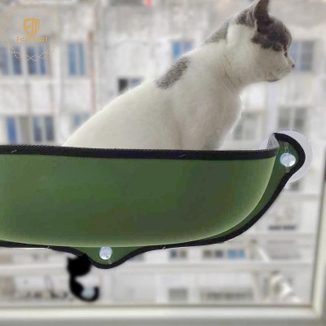 Latest Fashion Pet Hammock Moon Shape Bed Eco Friendly Cat Window Hammock