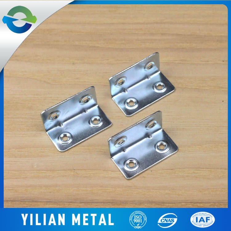 Zinc plating metal furniture corners