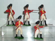 plastic small british soldiers figures by 5 for kids
