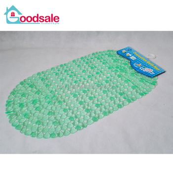 Non Slip Bath Mat Resistant Pebbles Shower Mat With Anti Slip
