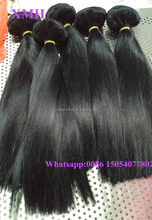 Thick end virgin brazilian remy human hair natural color silk straight clip in human hair extension