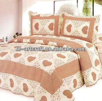 Corazón 3 Unids King Size Nuevos Diseños Patchwork Cubrecamas - Buy ...