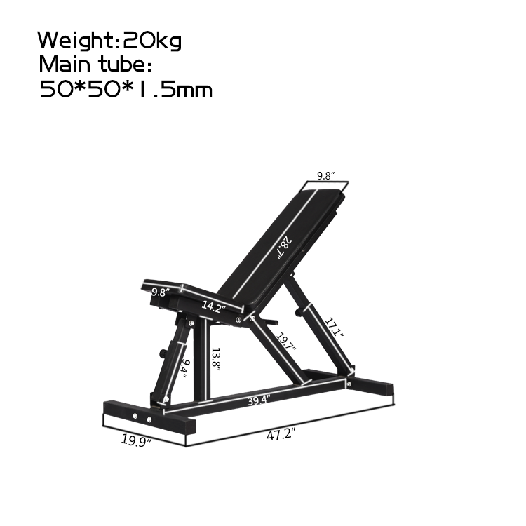 Adjustable Bench Weight Lifting Dumbbell Bench