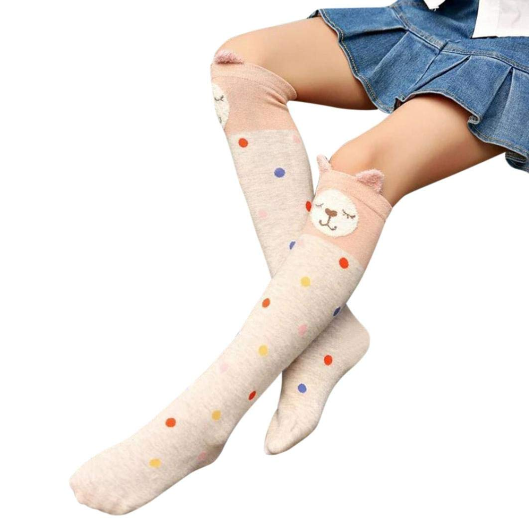f7c87a403 Get Quotations · Toddler Sock Elasticity Soft Animal Print Opaque Dots High  Over The Knee Cushion Socks Cute Leggings