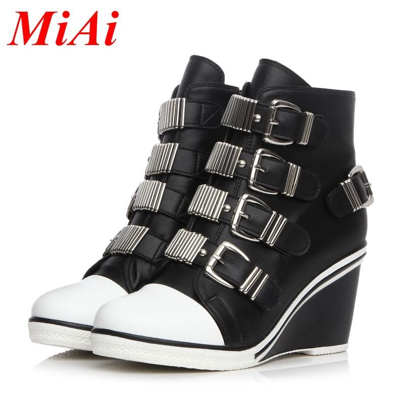13a60582393a6 Open Toe Wedge Boots Summer Women Shoes Cheap Peep Toe Flat Platform High  Heel Gladiator Sandals Boots Chunky Thick Heel