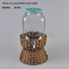 High quality 10L glass juice beverage jar with tap