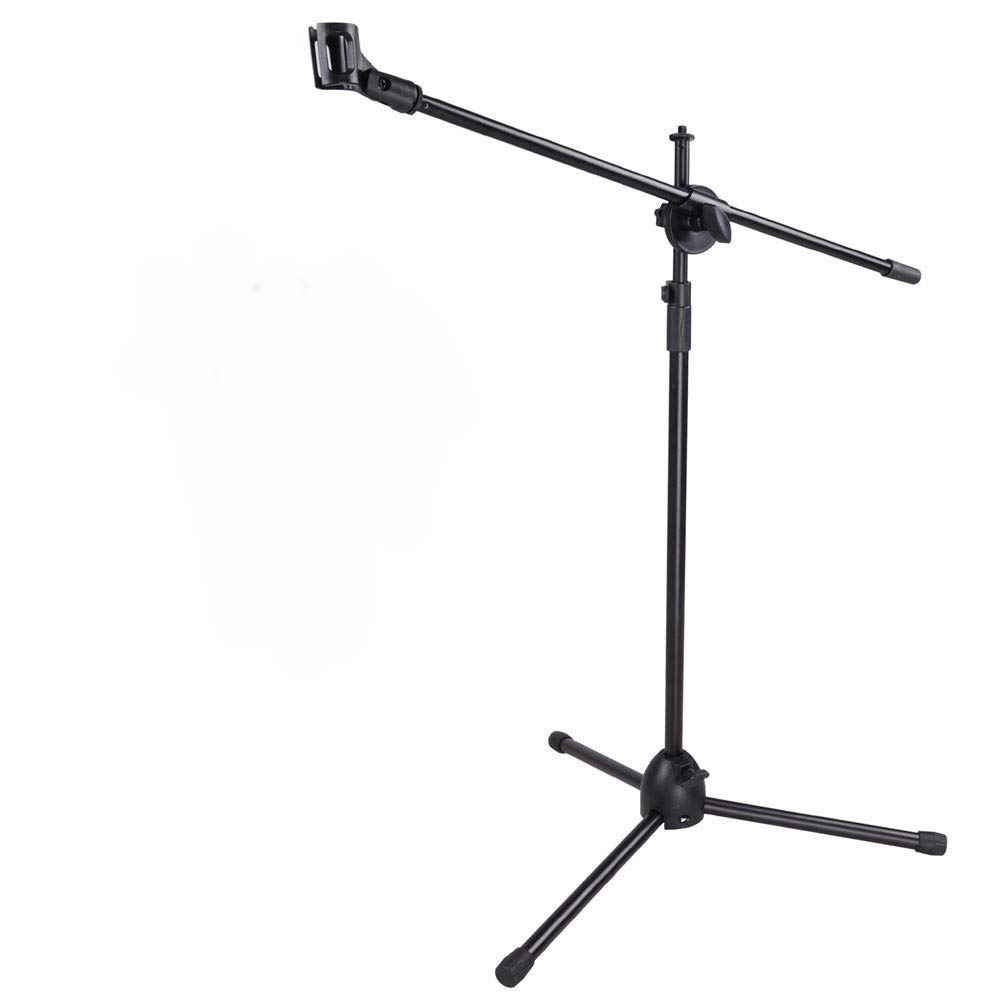 "Lapha' Microphone Mount Stand Mic Clip 360-degree Rotating Folding Type Boom Arm Tripod Metal Studio Stand Height adjustable from 58"" - 37"""