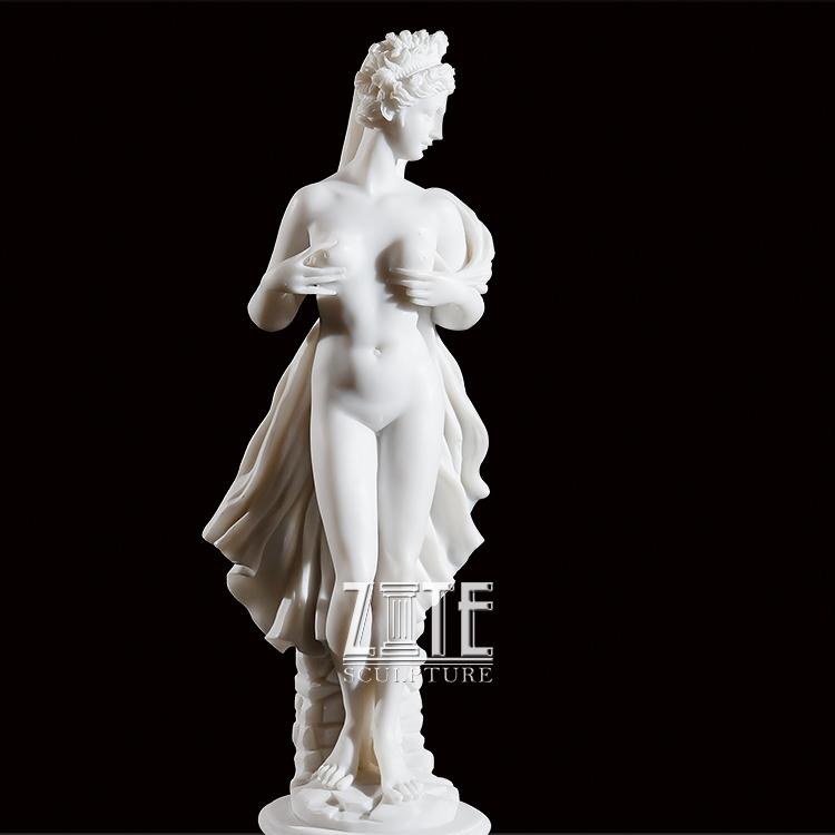 Popular Designs Hand Carved sitting girl statue marble lady sculptures