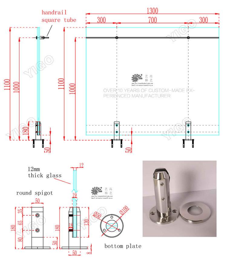 frameless glass balustrade decking railing modern. Black Bedroom Furniture Sets. Home Design Ideas