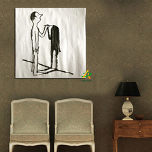 Modern Abstact Wall Art Banksy Painting Man Drawing Picture Painting On Canvas For Hotel Bar Home Decoration