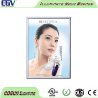 Advertising aluminum snap frame light box wholesale in Shenzhen