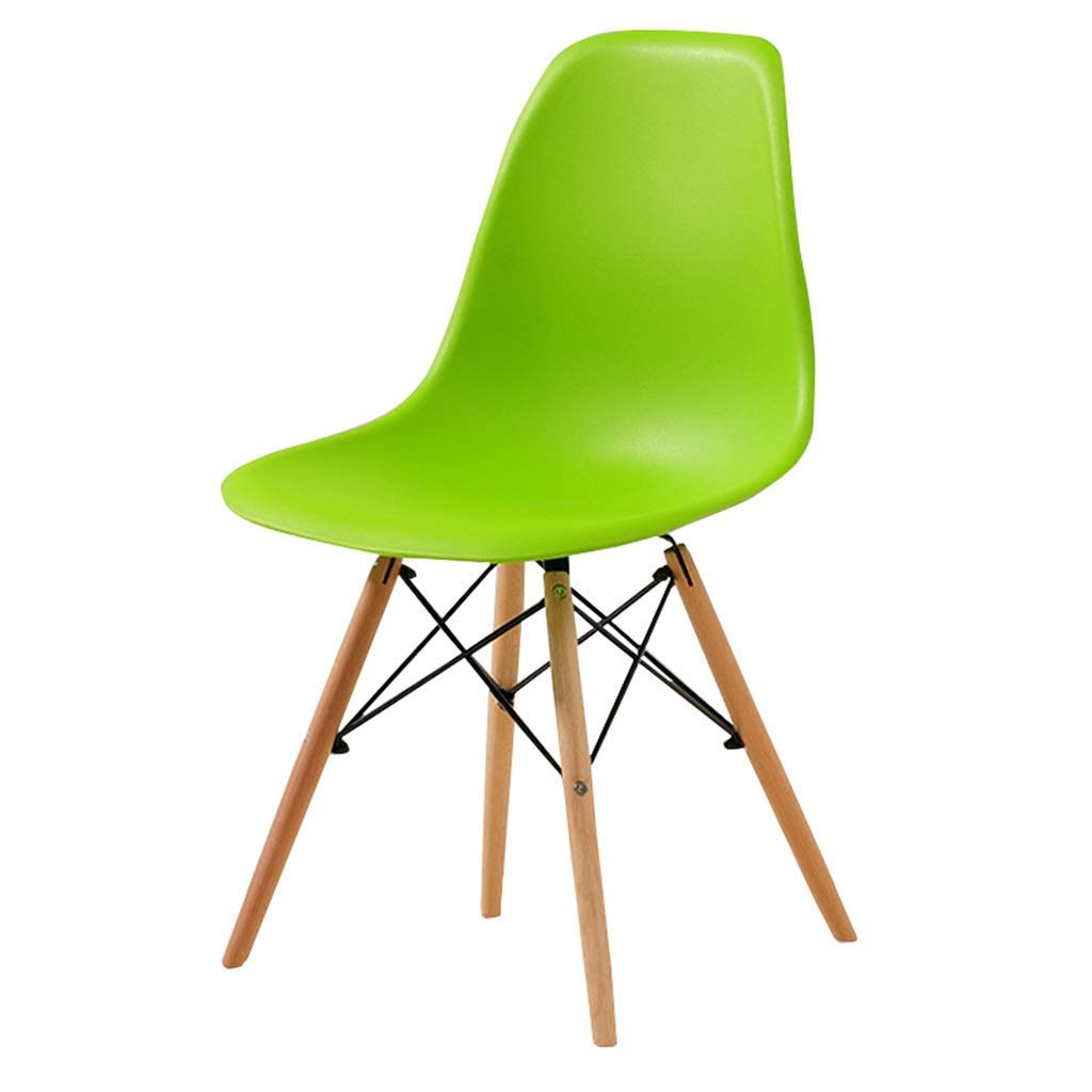 Wooden Chair Creative Office Stools Kitchen Dining Table Meeting Room Backrest Business Computer Chair Barstools,45x45x82cm,Light Green